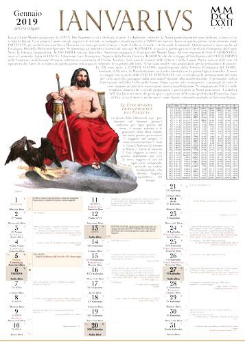 Calendario Romano Preti 2019.Calendario Romano Mmdcclxxii A V C 2019 E V